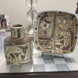 Royal Copenhagen stone ware pottery. Vase /dish